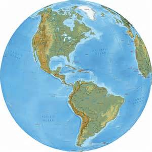 and south america political map and globe
