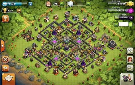 editing layout coc combinating 4 mortars perfectly th9 farming base