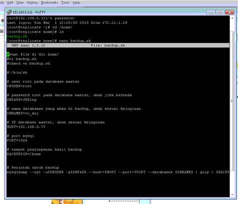 cara membuat database mysql di terminal linux cara membuat server replikasi database pada linux