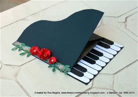 Handmade Piano - great take on a handmade piano card like the column of