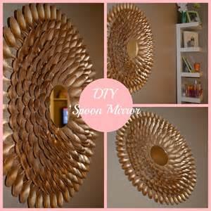 diy spoon mirror wall decor diy s spoon