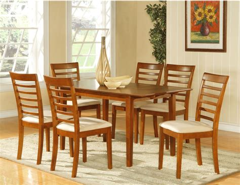 Dining Room Table And Chairs Sets 7pc Dining Room Dinette Set Table And 6 Chairs Brown Ebay