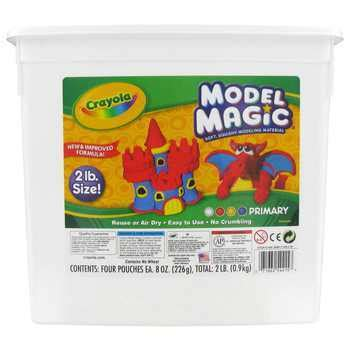 crayola model magic modeling compound primary colors 2 pound tub mardel