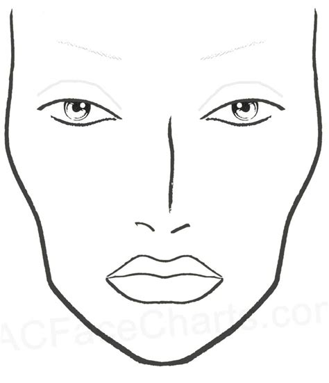 templates for drawing faces best 25 mac face charts ideas on pinterest face charts