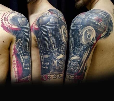 Motorrad Tattoo Unterarm by 70 Biker Tattoos For Men Manly Motorcycle Ink Design Ideas