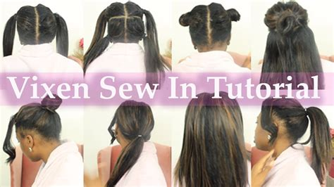 install vixen sew in by yourself from start easy braid