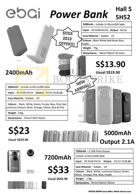 Power Bank Samdisk sandisk ebai power banks external chargers sitex 2013 price list brochure flyer image