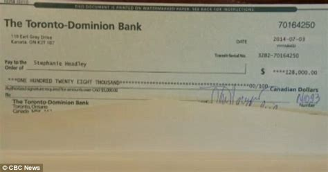 what does bank mystery gives canadian single of four 128 000