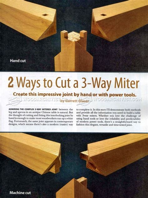 miter joint woodarchivist