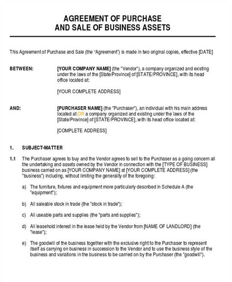 28 business agreement forms sle templates