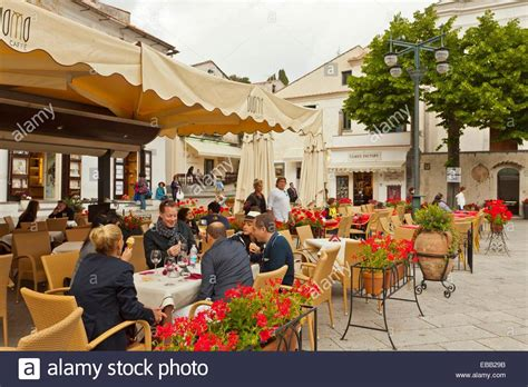 best restaurants in ravello an outdoor restaurant in the square of ravello italy