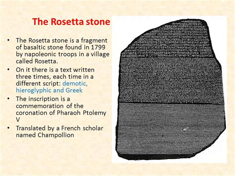 rosetta stone alternative ancient egypt ppt video online download