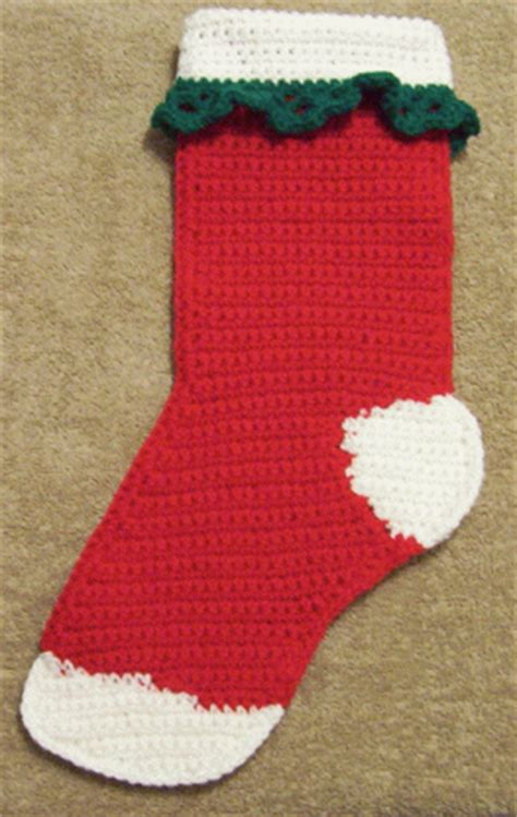 crochet pattern for large christmas stocking crochet christmas stocking free craft project