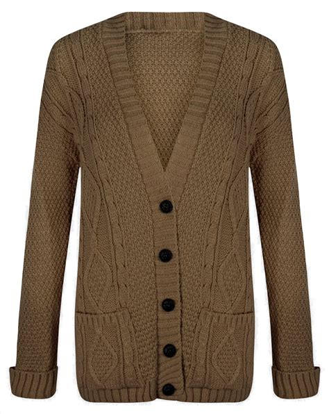 chunky cable knit cardigan womens chunky cable knit cardigan button