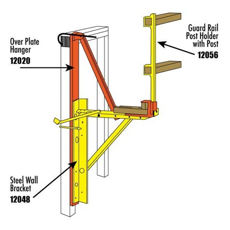lpost or l post roofing equipment steel wall brackets ladder scaffolding