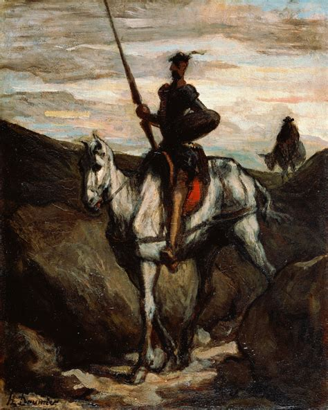 don quixote file honore daumier don quixote in the mountains