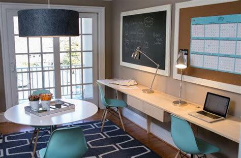 Black Parsons Desk 30 Shared Home Office Ideas That Are Functional And Beautiful