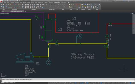 Drawing P Id In Autocad by Features Of Cadworx Plant Design Software Suite