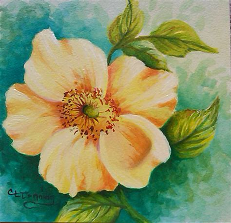 flower for painting easy acrylic flower paintings wallpapers masswallpapers