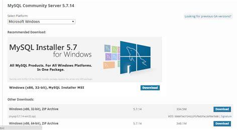 membuat web resmi cara menginstal mysql melalui web resmi untuk windows 7 32