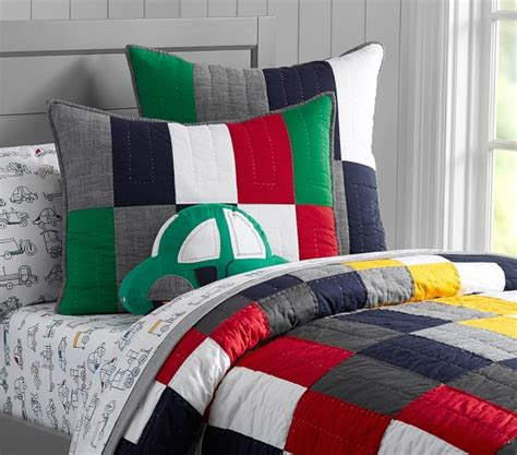 logan quilted bedding pottery barn
