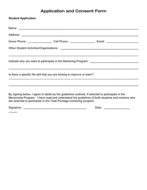 Permission Letter To Participate In Sports Student Parent Application And Consent