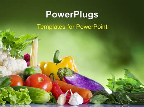 powerpoint themes fruit and vegetables powerpoint template close up view of nice fresh