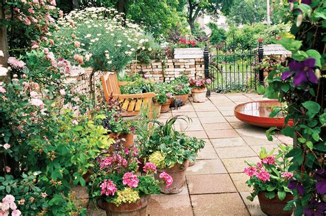 small gardens small garden design ideas better homes and gardens real