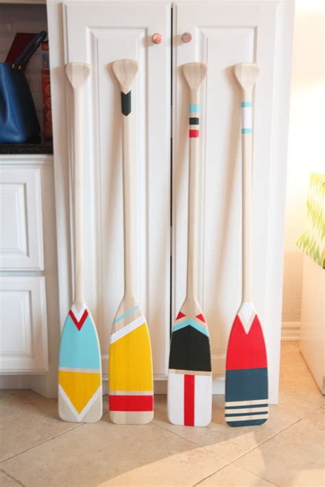 Diy Lake House Decor easy diy painted oars pencil shavings studiopencil