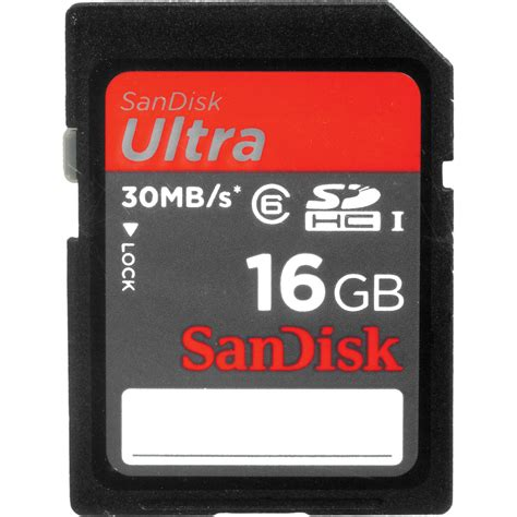 Memory Sandisk Ultra 16gb sandisk 16gb sdhc memory card ultra class 6 sdsdh 016g u46 b h