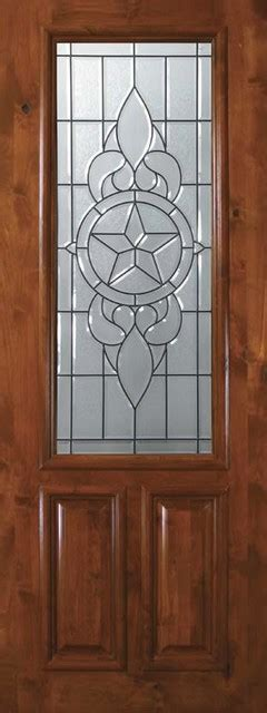 Exterior Slab Doors With Glass Slab Exterior Single Door 96 Wood Alder Brazos 2 Panel 2 3 Lite Glass Mediterranean Front