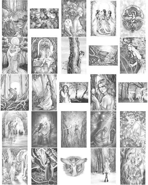 mermaids grayscale coloring book coloring books for adults books enchanted magical forests grayscale edition by selina fenech