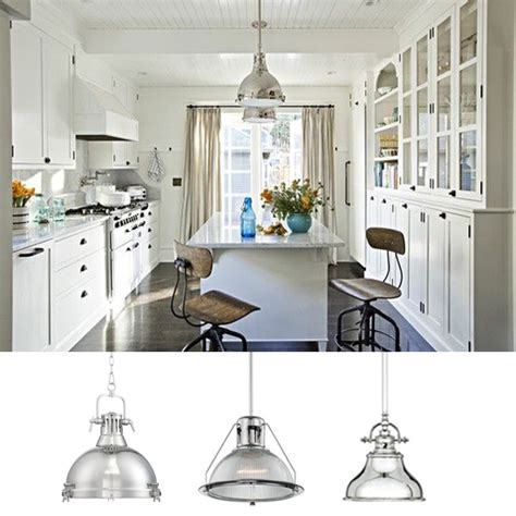 Chrome Kitchen Lights Industrial Pendant Lighting In The Kitchen Ls Plus