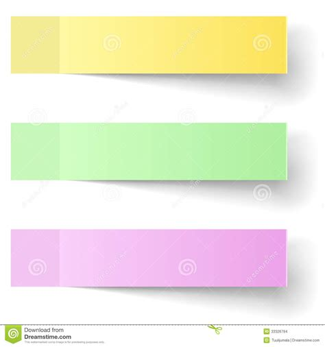 sticky note template color sticky notes stock vector image of green paper