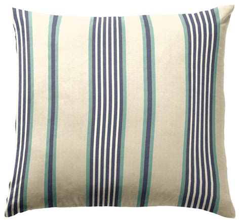 blue aqua striped throw pillow decorative pillows