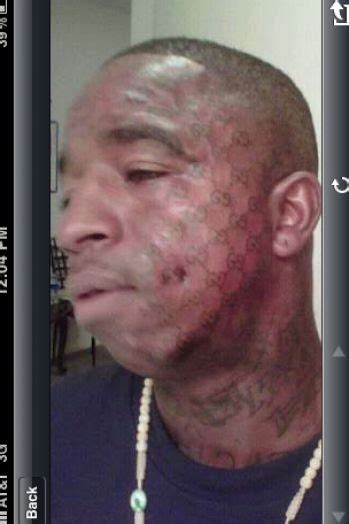 ice cream cone face tattoo gucci mane cone