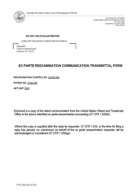 Mpep Transmittal Letter Letter Of Transmittal Report Of Letter Of Transmittal Report Of A Survey Of Records 9