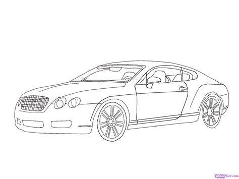 How To Draw A Bentley How To Draw A Bentley Step By Step Cars Draw Cars