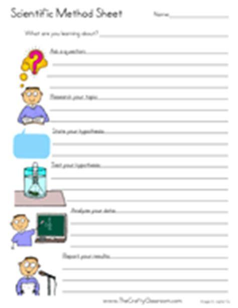 scientific method worksheet elementary scientific method printables