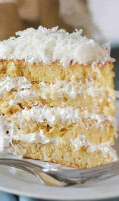 moist fluffy coconut cake yumm sweets pinterest add cream cheese to the batter and fill with apples brown