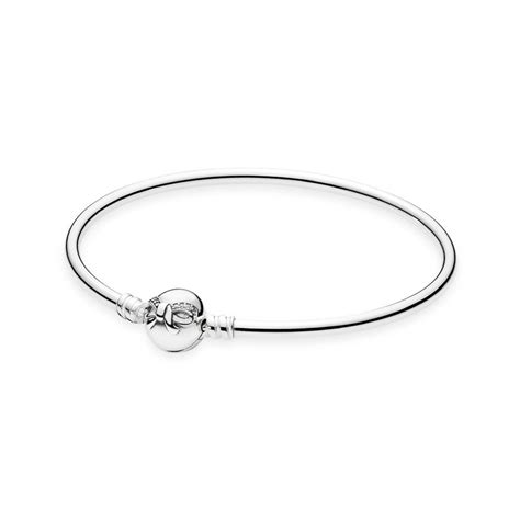 Silver Moments by Dainty Bow Moments Silver Bangle Pandora Uk Pandora Estore