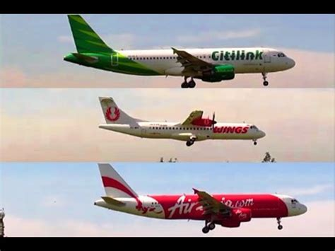 airasia vs lion video clip hay landing xpress garuda batik air take off