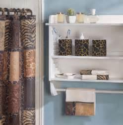 Bathroom decor set jungle print savannah matching bath accessory