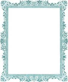 How To Make A Jewelry Mold For Silver - decorative clip art victorian border antique green