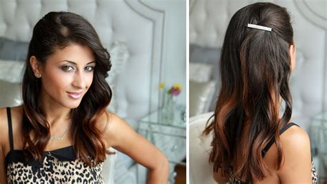 side pinned hairstyle