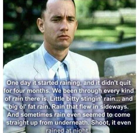 Forrest Gump Rain Meme - forrest gump rain forrest gump pinterest