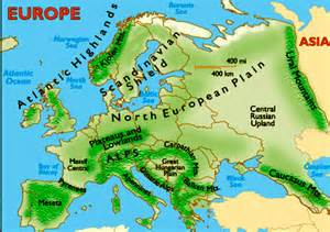 landforms of europe map thefreebiedepot
