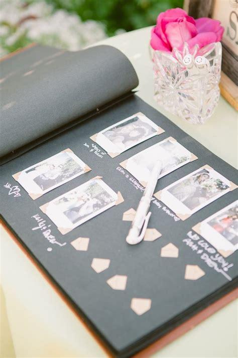 Handmade Guest Book Ideas - libro de firmas con polaroid vive les mari 233 s