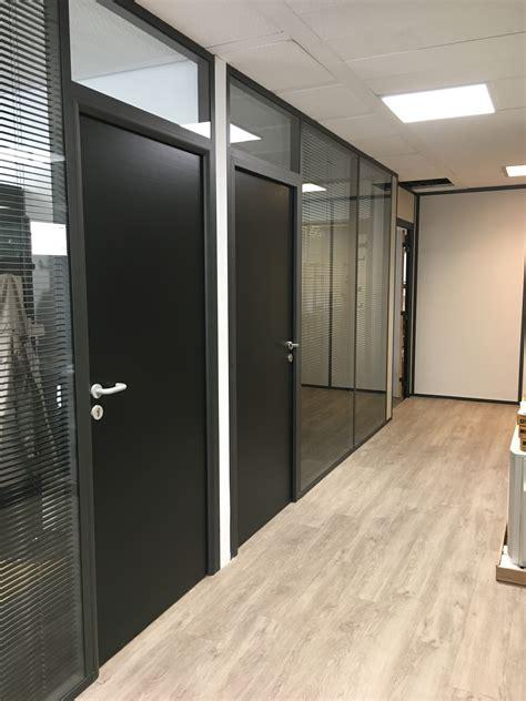 cloison aluminium bureau les r 233 alisations de cloison de bureau m2 space ile
