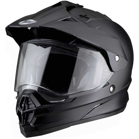 motocross helmet with visor thh tx 26 dual sport mx enduro road motocross
